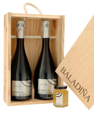 Burbujas de Baladiña  / Caja Madera / Gelee Baladiña